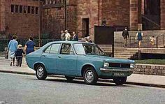 Hillman Avenger De Luxe photographed outside Coventry cathedral prior to its launch in 1970 Retro Cars, Vintage Cars, Coventry Cathedral, Dodge 1500, Veteran Car, Car Photos, Motor Car, Cars And Motorcycles, Cars
