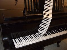 Knitting Pattern Piano Keyboard : 1000+ images about crochet - knitting.....bufandas on Pinterest Crochet sca...