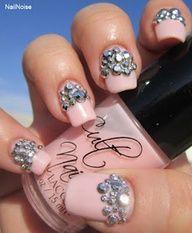 Light pink tip bling