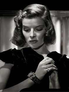Katherine Hepburn by George Hurrell( I wish I could have met him. I am lucky to have his son as my Uncle. His work is amazing-lisa)
