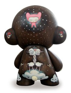 """Dolly's Llama"" 20"" Kidrobot Mega Munny. Hand painted by ""64 Colors"". http://www.64colors.com"