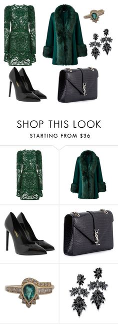 """"""":-)"""" by ella2811 ❤ liked on Polyvore featuring Elie Saab, Yves Saint Laurent and Fallon"""