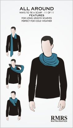 11 male ways to wear men's scarves – Scarf Ideas 2020 Mens Scarf Fashion, Fashion Scarves, Stylish Men, Men Casual, Real Men Real Style, Scarf Knots, How To Wear Scarves, Men Style Tips, Gentleman Style