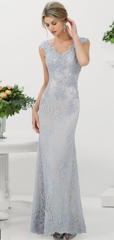 Magbridal Charming Lace V-neck Neckline Floor-length Sheath Mother Of The Bride Dress - Charming Lace V-neck Neckline Floor-length Sheath Mother Of The Bride Dress Source by MagbridalDress - Mother Of The Bride Dresses Long, Mother Of Bride Outfits, Mob Dresses, Bridesmaid Dresses, Lace Evening Gowns, The Dress, Wedding Gowns, Wedding Bride, Dress Wedding