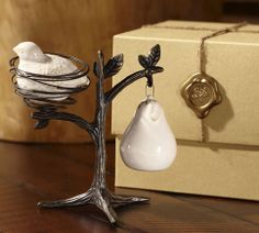 Salt and Pepper Shakers - Partridge in a Pear Tree.