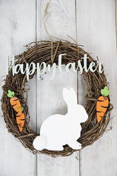 Grapevine Wreath- Happy Easter