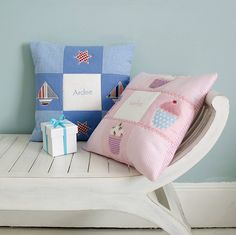 personalised name cushion by tuppenny house designs | notonthehighstreet.com