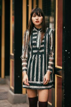 Anna Sui Striped Shirtdress, $458 (modeled by Natalie Off Duty)