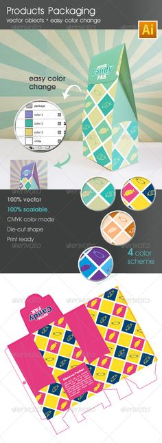Products Packaging Template v.1 - GraphicRiver Item for Sale