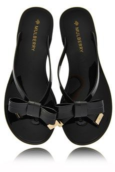 MULBERRY BOW Black Jelly Sandals - Want!!