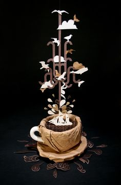 zim & zou- coffee dream Wow... one sick gift wrapping idea ...les u never wanna open it...lol thts if it was gift wrapped