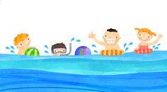 수영 중간에 휴식하고, 해파리에 쏘이면 바닷물로 세척해요! - 물놀이 안전수칙 - : 네이버 블로그