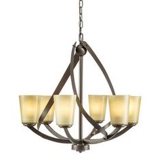 Shop Kichler Lighting Layla 6-Light Olde Bronze Chandelier at Lowe's
