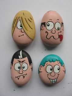 Cartoon pebble set 2.