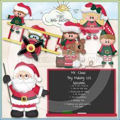 Christmas Village: Santa's School Elves 1 - NE KWD Clip Art