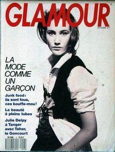 GLAMOUR France - Nº 6 - September 1988 Julie Delpy, Glamour France, 80s And 90s Fashion, Comme Des Garcons, Vintage Glamour, Supermodels, 6 September, Cover, Ph