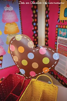 Love Dots on Chocolate? Wait until you see what Schoolgirl Style did with CTP's popular decor line...