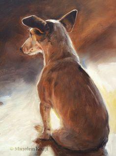 Jack Russell painting 24x30cm by Marjolein Kruijt. Www.marjoleinkruijt.nl #dogart