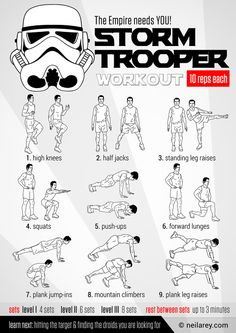 Stormtrooper Recruitment Workout. Dang it, now I have to work out, I can't let this slide!