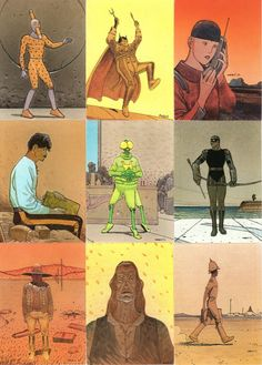 Moebius trading card set from 1993, part 3/5
