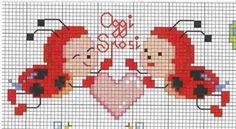 Schema punto croce Coccinelle sposi