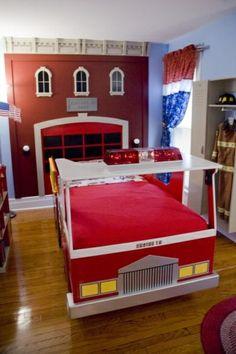 125 großartige Ideen zur Kinderzimmergestaltung - feuerwehr inspirierte jungenzimmer ideen