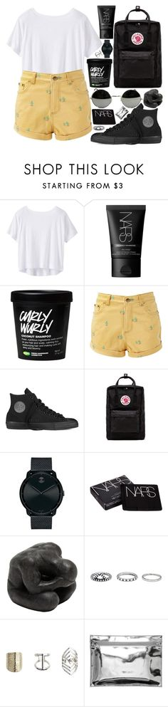 """""""you could"""" by velvet-ears ❤ liked on Polyvore featuring Athleta, NARS Cosmetics, Converse, Fjällräven, Movado, Oly, Forever 21, Topshop and Monki"""