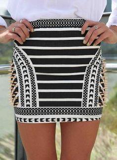 Black Matte Faux-Leather Skater Skirt | On my list for shopping ...