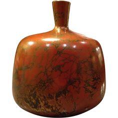 Japanese Shoukou Murashido Ware Heavy Bronze Kabin or  Vase