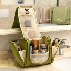 £6.99 New Travel Cosmetic Makeup Toiletry Pruse Wash Organizer Storage Hanging Bag | eBay