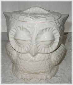 Vintage Owl Ceramic Bank White by Angelheartdesigns on Etsy, $34.00
