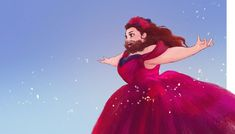 awww the bearded lady from The Greatest Showman