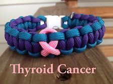 Thyroid Cancer Paracord Bracelet And Bracelets