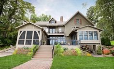 Cottage on the Hill - craftsman - exterior - minneapolis - Murphy & Co. Craftsman Interior, Craftsman Style Homes, Cottage Style Homes, Screened Porch Designs, Screened In Porch, Front Porch, Porch Paint, Brick Path, Traditional Exterior
