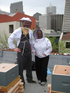 Honey bees on the rooftop of 400 ODE.