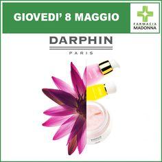 Giovedì 8 maggio: GIORNATA DARPHIN. Potrai effettuare 40 minuti di trattamento viso personalizzato con la consulente Darphin. Inoltre ci sarà uno sconto del 10% all'acquisto. #farmaciaallamadonna #farmacia #mestre #eventi #maggio