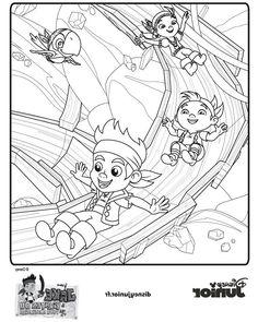 jake und die nimmerland piraten 5 ausmalbilder für kinder. malvorlagen zum ausdrucken und
