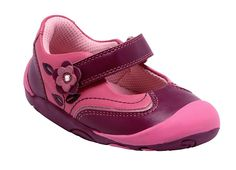 Steady - soft, comfortable first walking shoes for girls.