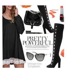 """Pretty Powerful"" by smartbuyglasses-uk ❤ liked on Polyvore featuring Aquazzura, Illamasqua, Miu Miu, Smith & Cult and MiniBag"