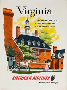 I know this isn't Roanoke, but it's vintage and it's Virginia. Vintage Travel Poster Virginia