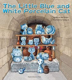 The Little Blue and White Porcelain Cat by Bao Dongni