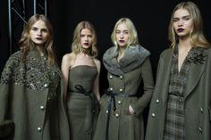 Backstage at Ermanno Scervino Women's F/W 2015-16 fashion show #ErmannoScervino #ScervinoLive