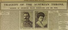 First World War centenary: the assassination of Franz Ferdinand, as it happened - On Sunday June 28, 1914 in Sarajevo, Gavrilo Princip fired the shot that killed the Archduke and started the train of events that led to global war. Here is a step by step account of how the dramatic day unfolded.