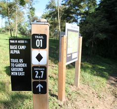 trail signage @ summit bechtel reserve