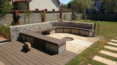 Firepit with Decking Seat 5