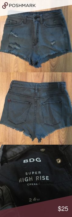 Grey Wash High Waisted Shorts BDG from Urban Outfitters - Super High Rise Cheeky 24w 100% Cotton. NWOT Urban Outfitters Shorts Jean Shorts