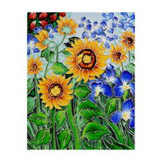 @Overstock - Art can be built right into your wall with this eye-catching decorative ceramic tile depicting Van Goghs Sunflowers and Irises. It also makes a beautiful, brightly-colored trivet, or simply a display piece that adds visual interest to any room. http://www.overstock.com/Home-Garden/Hand-carved-Van-Gogh-Sunflowers-and-Irises-Decorative-Ceramic-Tile/5811041/product.html?CID=214117 $39.99