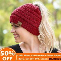 1bca70b9429 CC™ Soft Knit Ponytail Beanie Ponytail Beanie