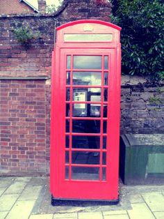 Phone box, Exeter, UK.