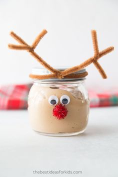Mason Jar Stocking Stuffers - Reindeer Mason Jr - Christmas Slime - Christmas Mason Jar Ideas